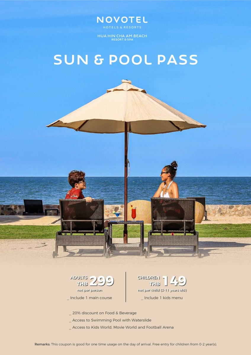 Make the best out of your day with our Sun & Pool Fun Pass.
