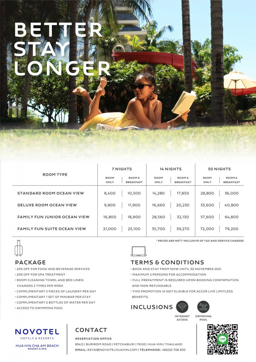 Stay Long Enjoy Longer with our Better Stay Longer package
